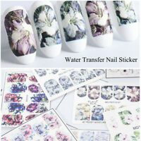 1 Sheets 3D Nail Art Water Transfer Stickers Flower Decals Manicure Decoration