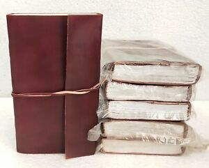 Leather Journal Blank Paper Notebook Notepad Diary Sketchbook Book Lot of 6