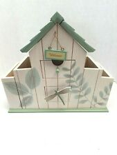 PFALTZCRAFT BY NATUREWOOD Mail Sorter Organizer with drawers bird house design