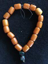 vintage real antique natural  Caramel Butterscotch Amber  Bead Necklace 134.3 g