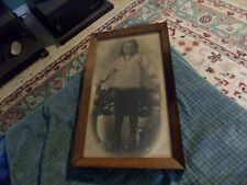 Antique 1919 EVANS STUDIOS CHILD IN SAILOR SUIT W/ Walnut Veneer Wood Frame