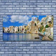 Acrylic print Wall art 140x70 Image Picture City Sea Architecture