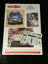DECALS 1/24 ALPINE RENAULT A110 NEYRET RALLYE DU MAROC 1975 WRC RALLY BURAGO