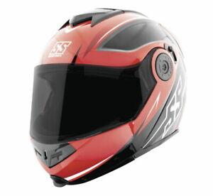 Speed & Strength SS1710 Split Decision Modular Motorcycle Helmet Red Medium