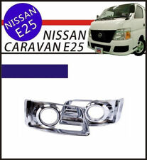 2PCS Fog Light Lamp Frame Case Chrome Cover Trim for NISSAN E25 Caravan Urvan