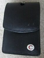 Coach Black Leather Belt Loop Cell Phone Case Brand New