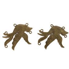 8pcs New Styles Antique Bronze Birds Shape 4 Holes Connector Pendant Findings L