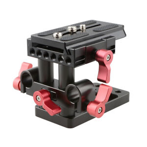 CAMVATE Tripod Mounting Baseplate Manfrotto 15mm Rod Clamp for Camera Matte Box