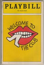 """""""Welcome To The Club"""" Playbill 1989 Cy Coleman"""
