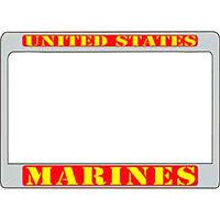 United States Marines Motor Cycle Bike License Frame - Red