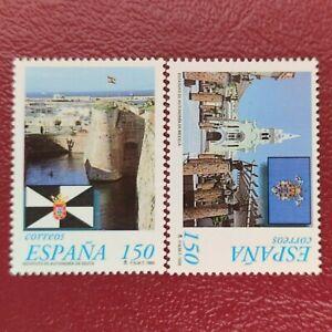 España año 1998 ESTATUTOS DE AUTONOMIA DE CEUTA Y MELILLA Nº 3534 y 3535 MNH