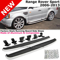 Range Rover Sport 06-13 Running Board Side Step Rail Nerf Bar Aluminum Silver