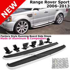 Range Rover Sport 06-13 Running Board Side Step Rail Nerf Bar Aluminum Silver