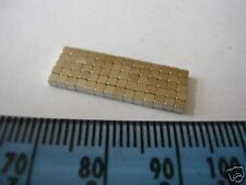"70 of 1/16"" Tiny Cube Magnets 1.5mm Square * 70g PULL * magnetic small block"