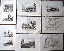 1836 INCISIONI NAPOLEONICHE ETTLINGEN BADEN BRISACH DIERSHEIM HEIDELBERG...