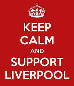 KEEP CALM AND SUPPORT LIVERPOOL A5 LAMINATED MINI POSTER/DOOR PLAQUE