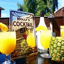 NEW PERSONALISED LARGE METAL COCKTAIL SIGN PERFECT FOR GARDENS & HOME BARS! (22)
