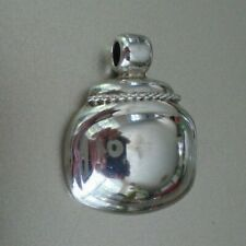 "Sterling Silver Pendant 1"" Vintage Ati 925 Mexico"