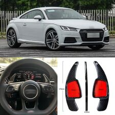 Carbon Fiber Gear DSG Steering Wheel Paddle Shifter Cover Fit For Audi TT 15-18