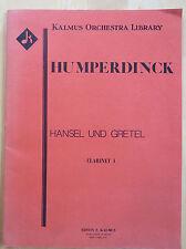 Hansel und Gretel, Clarinet 1, opera score, Humperdinck, Kalmus ed.