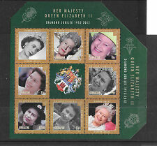 Gibraltar 2012 Diamond Jubilee Sheetlet  MNH