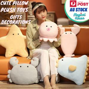 Cute Cartoon Pillow Animals Plush Toy Crab Kids Doll Home decoration Cushion