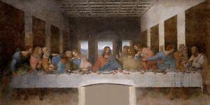 """""""The Last Supper"""" Leonardo Da Vinci HD Print on Canvas Large Wall Picture"""
