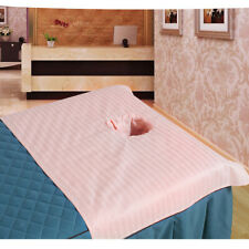 Massage Tabble Bed Face Hole Sheet Cover Satin Strip Cosmetic 50x80cm Pink_1