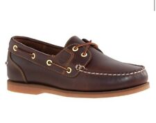 TImberland WOMEN'S CLASSIC AMHERST 2-EYE BOAT SHOES Root Beer Smooth 8.5M #14