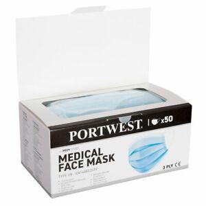 Mund Nasen Schutz - Med. Maske Typ IIR - Einzelverpackt im 50er Spenderkarton