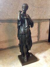 XIXe Bronze Fonte Barbedienne Diane de Gabies Artemis Sculpture Statue A.Collas