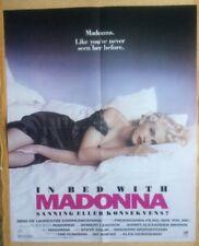 "MADONNA Original Vintage ""In Bed With Madonna"" Swedish Okej Mag Poster"