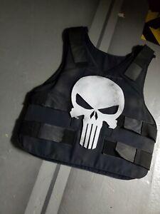 Custom made Marvel Punisher Skull Police tactical Vest Costume Cosplay Halloween