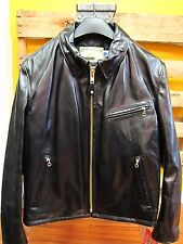 SCHOTT NYC Horsehide Black Racer Motorcycle Leather Jacket #689H Made in USA