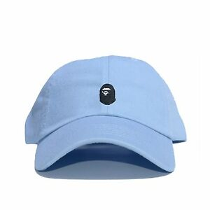 """""""BAPE"""" Embroidered Dad Hat (BATHING APE HEAD supreme AAPE unsturctured ALL COLOR"""