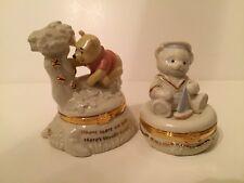 Lenox Treasure Boxes-Pooh's Treasure of Honey & Anchors Aweigh; treasure inside