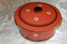 "TERRACOTTA CLAY HAND-PAINTED MEDIUM ""PANELA DE BARRO"" COVERED CASSEROLE-PORTUGAL"
