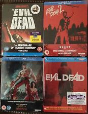 Evil Dead+2+2013 Reboot+Army of Darkness 4xG2 blu ray steelbooks Exc NEW sealed
