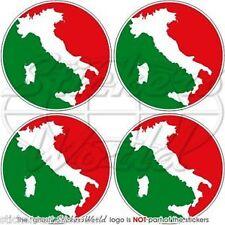 "ITALY Italia Italian Roundels Vinyl Bumper-Helmet, Decals-Stickers 2"" (50mm) x4"