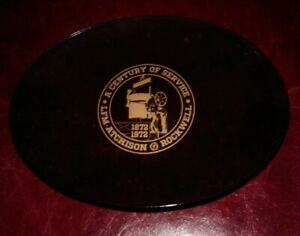 Vtg 1972 Atchison KS Rockwell International Manufacturing 100th Year Glass Tray