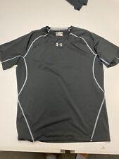 Under Armour Heat Gear Compression Short Sleeve Shirt, Mens Sz 3XL Black Grey