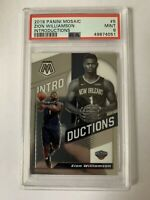 2019-20 PANINI MOSAIC #5 ZION WILLIAMSON INTRODUCTIONS RC Rookie PSA 9 Mint