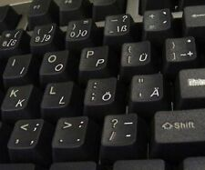 Deutsch Transparente Tastaturaufkleber mit Weißer Buchstaben - für jede Tastatur