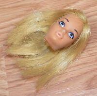 Genuine Vintage 1971 Mattel Blonde Hair Barbie Doll Head Only **Made in JAPAN**