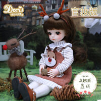 BJD 1/6 Girl Dolls Movable Body Mini BJD Doll Toys with Full Set Clothes Outfit