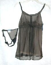 3Simply Vera Wang Dark Gray Nightie & Matching Panties  Size Medium  NWT