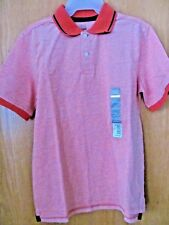 Men's ORANGE/RUST SS STRETCH Pique Polo Shirt~Size XXXL (3X)~NEW with Tags