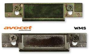 Avocet - Wms Centre Latch Keep Plate For Upvc Door Keep - Strike Plate