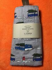 NWT J CREW XL Extra Large Boxer Shorts Holiday Caravan Print
