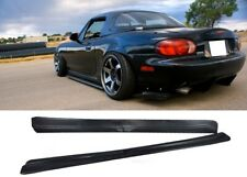 90-97 MAZDA MIATA MX5 RIGHT LEFT SIDE SKIRTS FD POLY URETHANE BODY KIT UNPAINTED